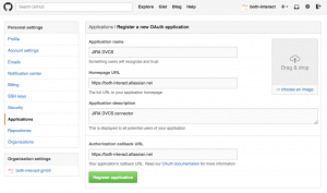 Configuring DVCS connector URL in GitHub